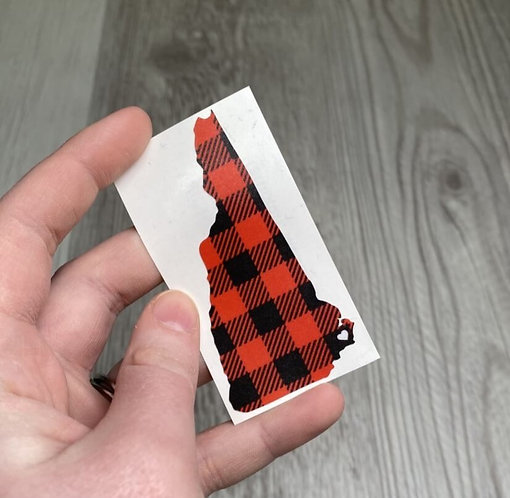 Flannel New Hampshire Weather Proof Sticker