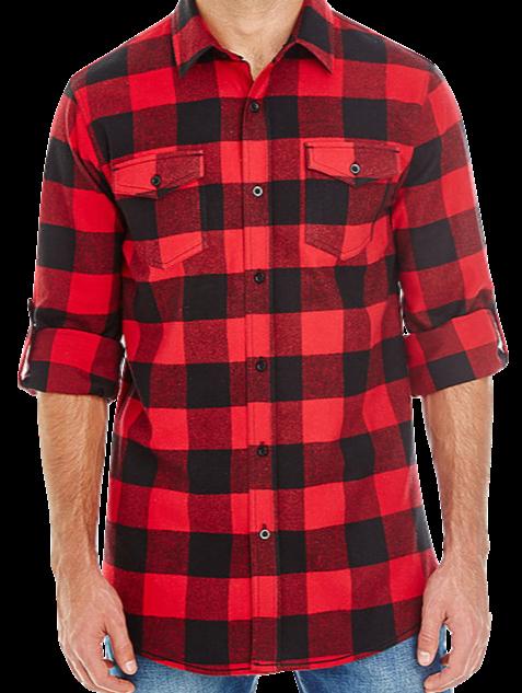Men's Black/Red Flannel