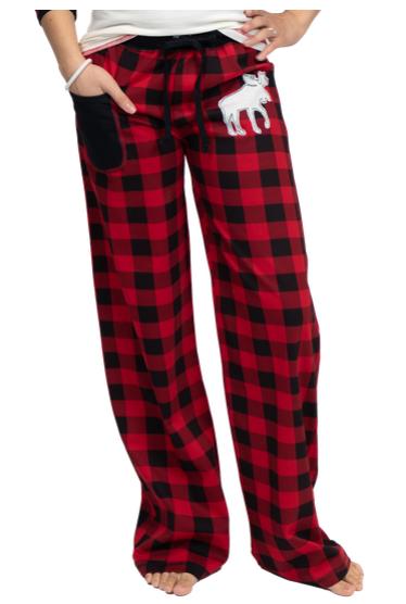 Women's Plaid Moose Pants