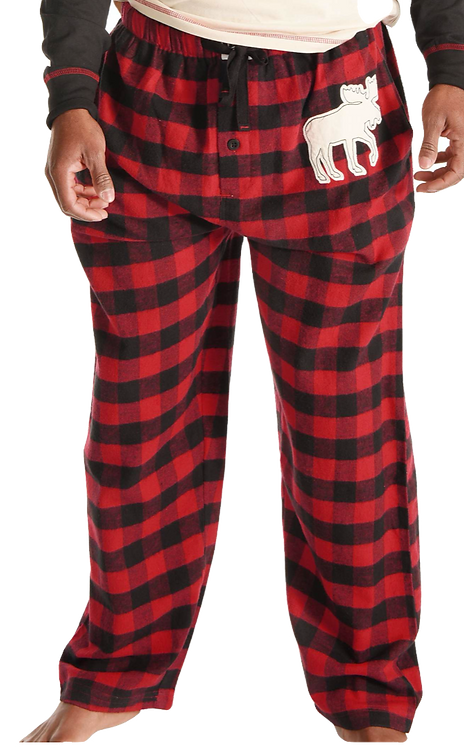Unisex Plaid Moose Pants