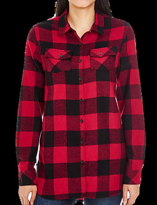 Women's Black/Red Flannel