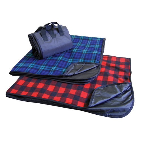 Fleece Plaid Picnic Blanket | Fold and Carry