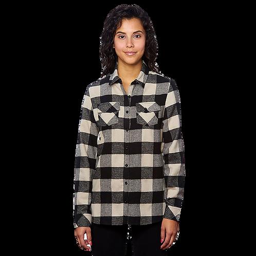 Women's Ecru Black Flannel