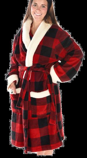 Buffalo Plaid Plush Robe