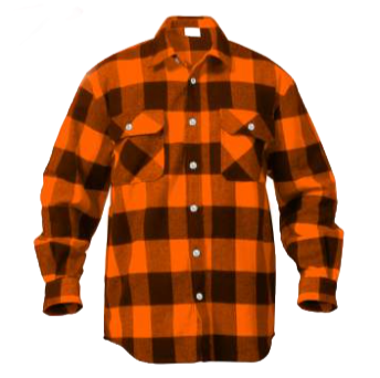 Extra Heavyweight Orange Plaid Flannel
