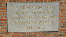 Monument Politiek Gevangenen WO II aan de Van Benedenlaan gerestaureerd.