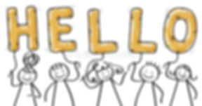 hello-group-stick-figures-holding-golden