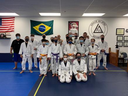 Johanna's GJJ Combatives Stripe promotion