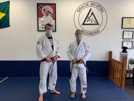 Gracie Jiu-Jitsu newest belt promotions.