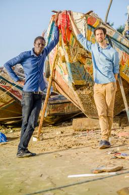 Khadim Tall et Monsieur Pierre à Saint Louis du Sénégal février 2018