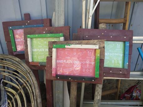 Pancartes de consignes de tri