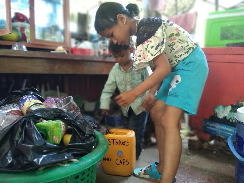 Mise en place de bas de collectes dans des commerces de l'île