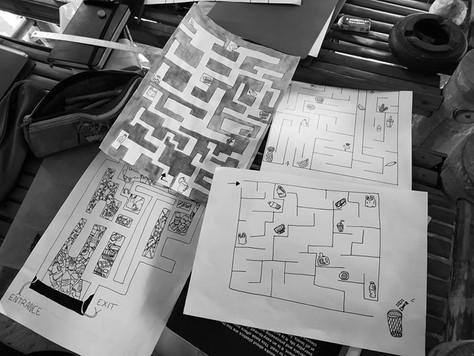Des jeux et dessins sur le thème des déchets