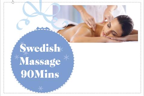Swedish Massage 90 Mins