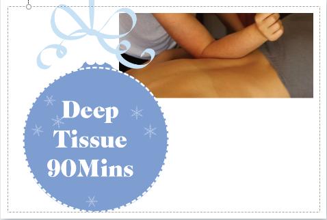 Deep Tissue Massage 90 Mins