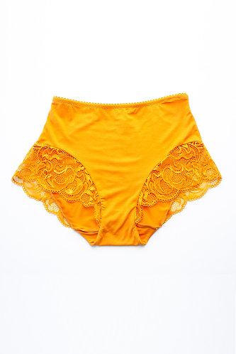 Olivia high waist brief mustard / Lonely