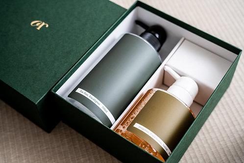 アロマ ギフトセット ハンドソープ300ml & アルコールハンドジェル500ml   / QR aroma