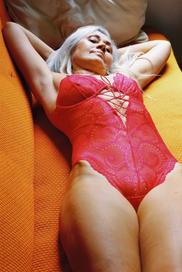 Delilah bodysuit scarlet/Lonely