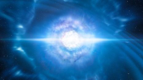 Ondas Gravitacionais Luminosas!? A Colisão de Estrelas de Nêutrons