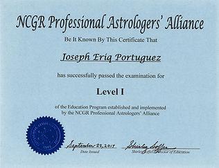 NCGR Level 1 Certification.JPG