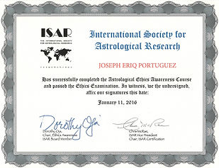 ISAR Ethics Awarness Course Certificate.