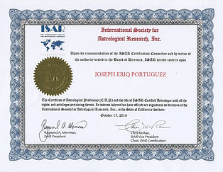 ISAR Certificate of Astrological Profici