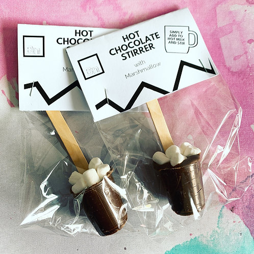 Hot chocolate stirrer