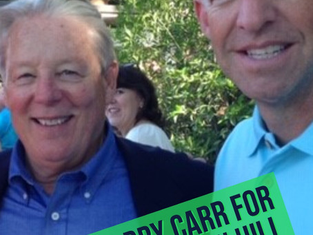 State Senator Bill Monning endorses Morgan Hill Council Member Larry Carr for re-election.
