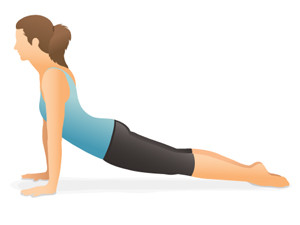 Upward Dog yoga pose for Diabetes