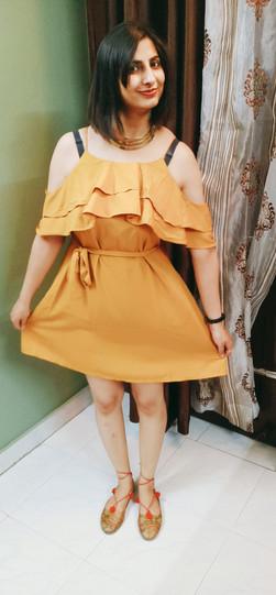 SSS mustard dress online shopping