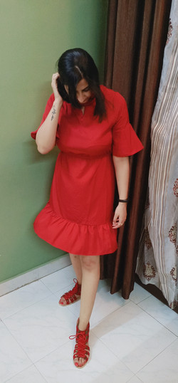 Mehroon dress from SSS 3 under 999 customers