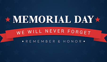 Holiday Hours for Memorial Day 2021