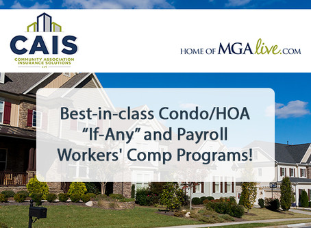 """Best-in-class Condo/HOA """"If-Any"""" and Payroll WC Programs!"""