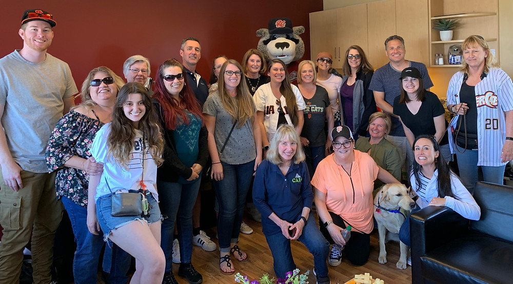 CAIS employees at the River Cats May 8th 2019