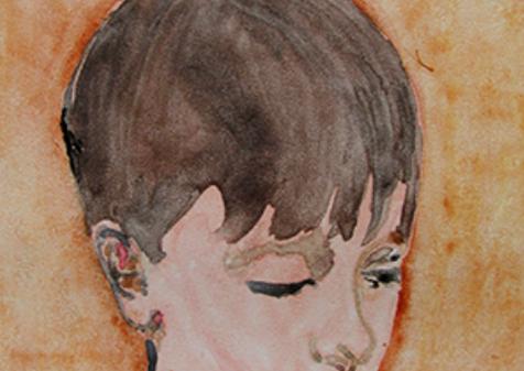 Jonas, 2018, Watercolor Monoprint, 11x15