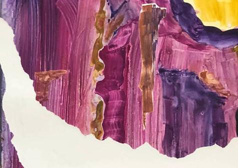 Landscape in Purple, 2019, Monoprint, 21x28