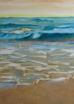 Seascape II, 2017,Oil, 15x19