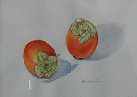 Persimmons, 2013, Watercolor, 11x14 (SOLD). Prints available.