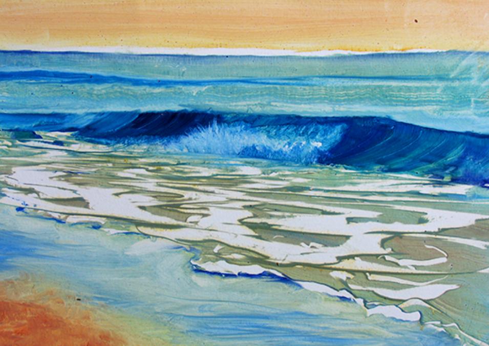 Seascape I, 2017, Oil, 15x 9