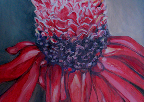 Red Torch Ginger, 2014, Oil,  15x19, (SOLD). Prints available.