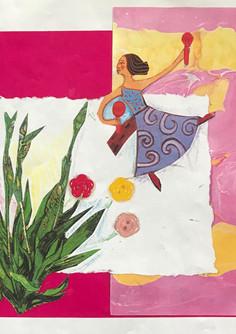 Irises to Bloom, 1995, Collage, 7x7