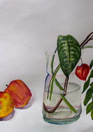 Still Life of Chinese Lanterns, 2016, Watercolor, 14x17, (SOLD). Prints available.