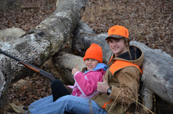 Joe Joe taking his little sister hunting 12-31-12 019.JPG