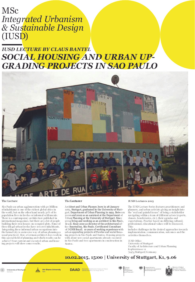 Lecture - Social Housing and Urban Upgrading Projects in São Paulo