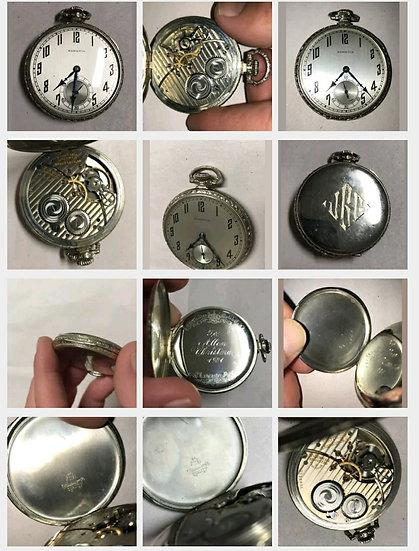 1925 Hamilton 14k WhiteGold 12 size 17 jewel
