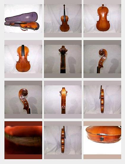 Antique Violin 1920s tiger stripe
