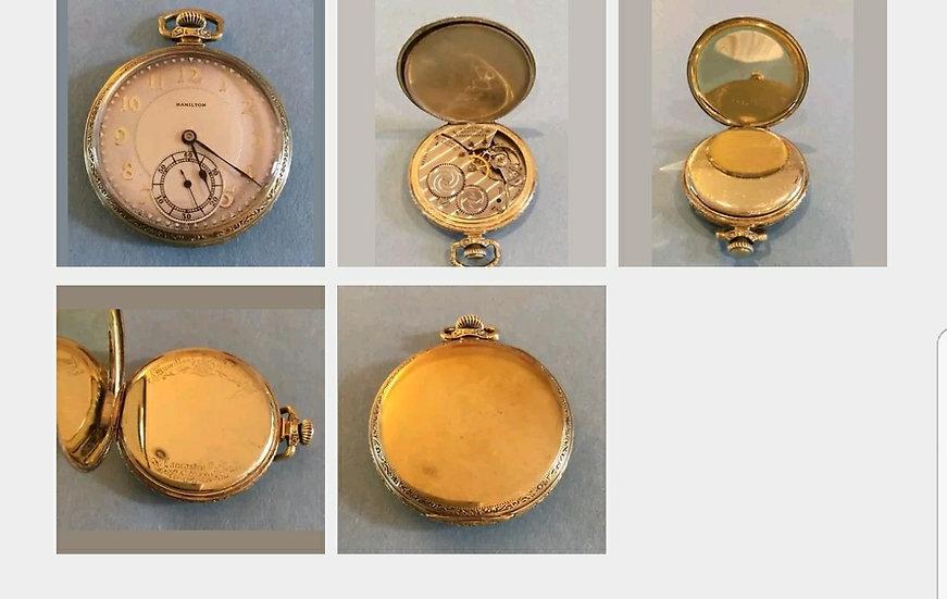 Illinois Watch Co 12 size 17 jewel pocket watch
