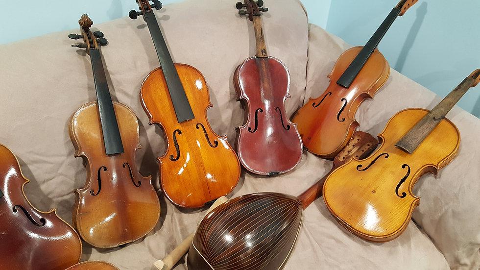 antique beautiful tiger stripe violin