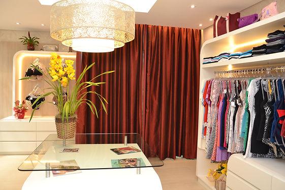 Interiores loja de roupas