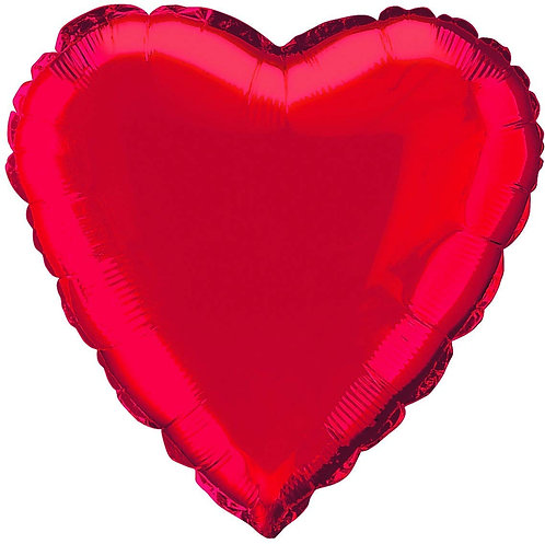 Single Red Heart Balloon - NOT FOR DELIVERY ON ITS OWN